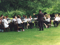 Chiltern Concert Band playing outdoors